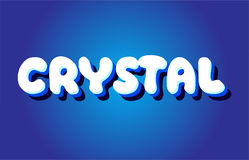 Crystal text 3d blue white concept vector design logo icon Stock Images