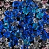 Crystal textur för blå och ljus sten för akryl crystal Fotografering för Bildbyråer