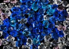 Crystal textur för blå och ljus sten för akryl crystal Arkivfoto