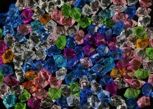 Crystal textur för färgrik sten för akryl crystal Royaltyfri Fotografi