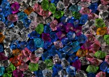 Crystal textur för färgrik sten för akryl crystal Royaltyfri Bild