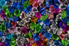 Crystal textur för färgrik sten för akryl crystal Arkivfoton