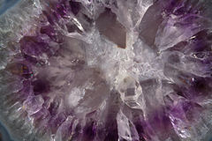 Crystal texture. Purple crystal texture macro background Royalty Free Stock Image