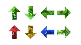 Crystal texture of arrow shape Stock Image