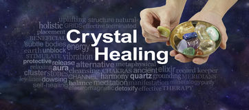 Crystal Therapy word cloud Royalty Free Stock Images