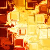 Crystal tile pattern background - fiery yellow, red and orange colored Royalty Free Stock Photos