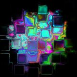 Crystal tile pattern background - neon color Royalty Free Stock Image