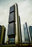 Crystal Tower, skyscraper of Madrid, placed in financial zone ,f Royalty Free Stock Photos
