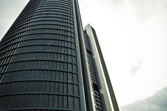 Crystal Tower, skyscraper of Madrid, placed in financial zone ,f Royalty Free Stock Photography