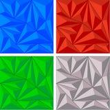 Crystal triangelbakgrundsuppsättning Royaltyfri Bild