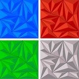Crystal triangle background set Royalty Free Stock Image