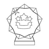 Crystal trophy in the shape of a star.Award for the best song in the talent contest .Awards and trophies single icon in Stock Image