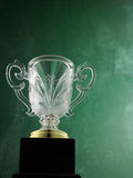 Crystal trophy. For the winner stock image