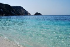 Crystal turquoise beaches of Greece - Kefalonia island royalty free stock photo