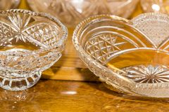 Crystal Vases With Different Patterns Stock Photos