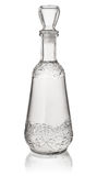Crystal vodka decanter Royalty Free Stock Photo