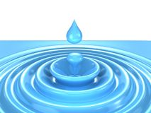 Crystal water drop Royalty Free Stock Photo