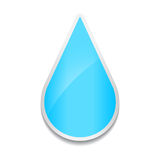 Crystal water drop icon. Sticker on white background. Stock Image