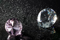 Crystal and water drops Stock Photos