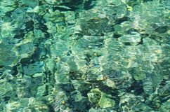 Clear water background. Crystal water in the Mediterranean Sea, Sicily Royalty Free Stock Image