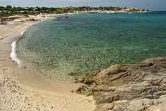 Crystal Waters of Corsica Coast, France Stock Images