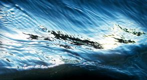 Crystal wave patern in the sea . Stock Image