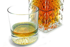 Crystal whiskey glass Royalty Free Stock Photography