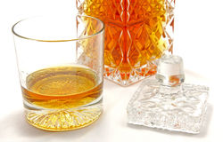 Crystal whiskey glass Stock Images
