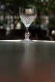 Crystal wine glass Stock Images