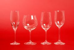 Crystal Wine Glasses Royalty Free Stock Photos