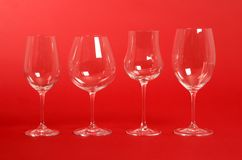 Crystal Wine Glasses Stock Photos