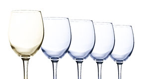 Crystal wine glasses Royalty Free Stock Images