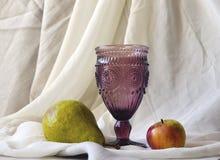 Crystal Wineexponeringsglas Royaltyfria Foton
