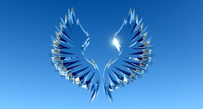 Crystal wings award Royalty Free Stock Images
