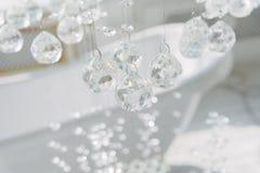 crystal Wiszący zawieszenie Szklane piłki na sznurku fotografia stock
