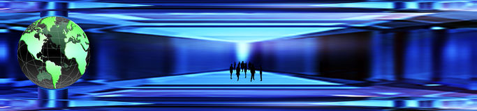 Crystal world banner. Business subject Stock Images