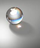 Crystal world globe south pole Stock Image