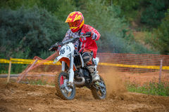 Crystalev Fedor 16. MOSCOW, RUSSIA - SEPTEMBER 10, 2016: Crystalev Fedor 16 Free Riders Group, Vidnoe, class `Country Kidz`, in the 4 stage of the XSR-MOTO.RU stock images