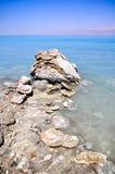 Crystalic salt. On the beach of the Dead Sea Royalty Free Stock Photography
