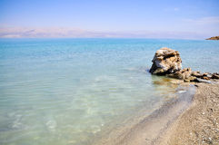 Crystalic salt. On the beach of the Dead Sea Stock Image