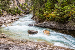 Crystaline waters of Johnston Canyon Stock Photos