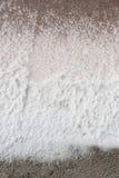 Crystalized salt i en salt min för hav, Thailand Arkivfoton