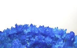 Crystall blu alto vicino di estremo dell'allume Fotografie Stock Libere da Diritti