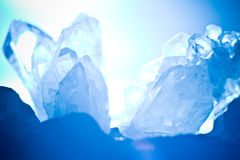 Crystall da rocha da montanha Foto de Stock Royalty Free