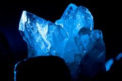 Crystall de roche de montagne Photos stock