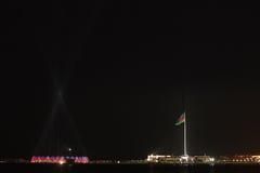 Crystall Hall and Flag Square at Baku Boulevard Royalty Free Stock Image