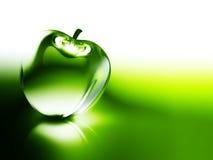 Crystalline green apple Stock Photography