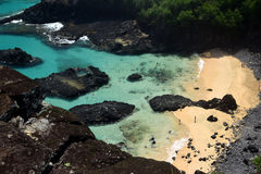 Crystalline sea beach in Fernando de Noronha Royalty Free Stock Photo