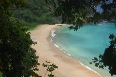 Crystalline sea beach in Fernando de Noronha Royalty Free Stock Photography