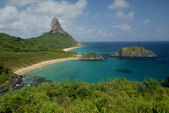Crystalline sea beach in Fernando de Noronha,Brazil Royalty Free Stock Image